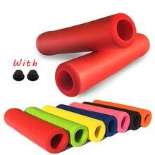 1 пара велосипедных ручек для руля, крышка с наконечниками для горного велосипеда, силиконовая Нескользящая ручка, мягкие MTB ручки