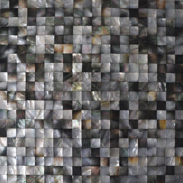 Free Shipping Black Mother Of Pearl Tiles 20x20mm Kitchen Backsplash Bathroom
