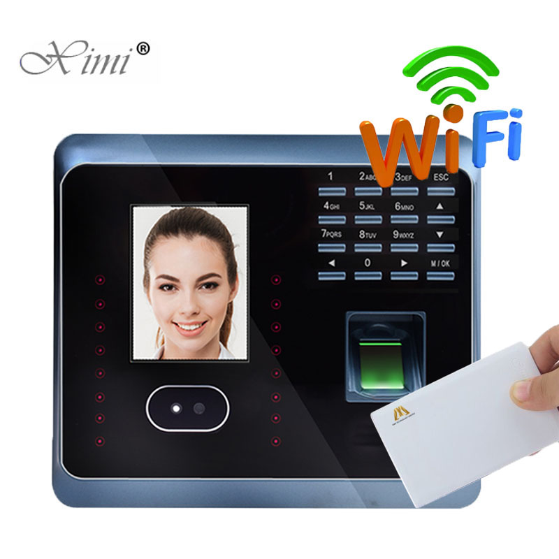 UF100Plus Face Recognition Time Attendance With Fingerprint And MF Card Reader TCP/IP WIFI Facial Employee Attendance Time Clock