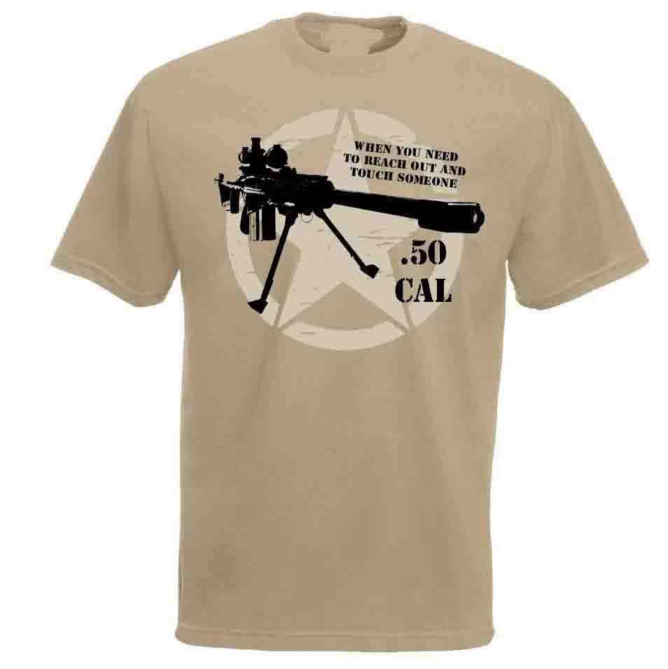 50. Cal Sniper Quote Us Army Style T-Shirt Desert Marks Man New 2019 Fashion 100% Cotton For Man Shirts Christian T Shirt