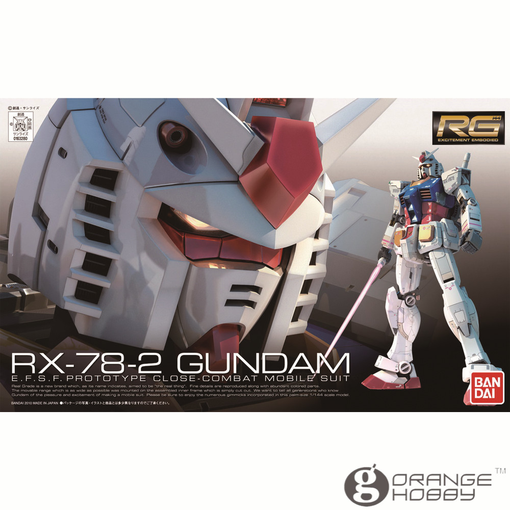 OHS Bandai RG 01 1/144 RX-78-2 Gundam EFSF Close Combat Mobile Suit Assembly Model Building Kits oh ohs bandai mg 155 1 100 rx 0 unicorn gundam 02 banshee mobile suit assembly model kits oh