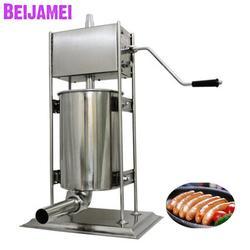 BEIJAMEI 3L strona główna nadziewarka do kiełbasy nadziewarka ręczna mała maszyna do kiełbasy pionowa przenośna wytłaczarka do mięsa cena w Roboty kuchenne od AGD na