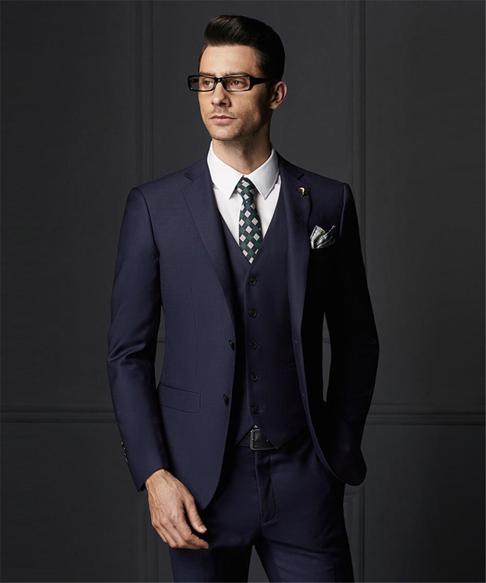 jacke + Pants + Tie + Vest Anzüge 2017 Bräutigam Smoking Schokolade Zweireiher Hochzeit Abendessen Bräutigam Männer Anzüge Best Man Bräutigam Männer Anzug