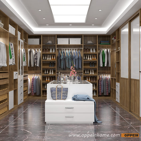 2016 New Design Oppein Luxury Villa Wood Grain Walk In Closet Design YG16  M08 In Wardrobes From Furniture On Aliexpress.com | Alibaba Group