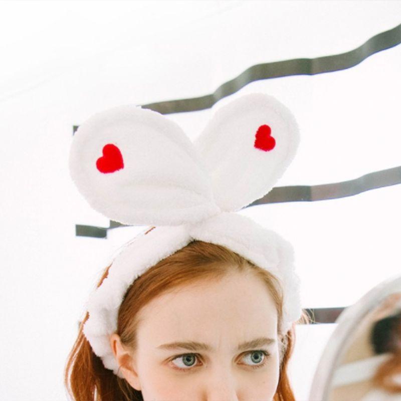 Для женщин обувь для девочек Гибкая железная проволока SPA широкая головная Повязка регулируемый милые кроличьи уши повязка на голову Красн