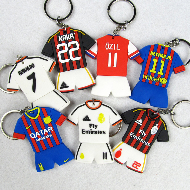 0f29d7df2 Football fans supplies star team soccer jersey national team key chain