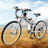 Dis far 26 inch electric bicycle 36v350w folding electric vehicle mountain bike lithium battery electric car battery powered car