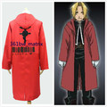 Anime Fullmetal Alchemist Cosplay Costume Edward Elric Red Cloak Jacket/Coat Halloween Costume New Free Shipping+Drop Shipping
