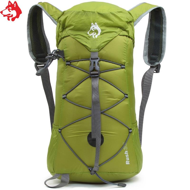 32L purple/Red/Blue/Green outdoor trekking backpack Nylon waterproof unisex cheap hiking backpacks folding mountaineering bag