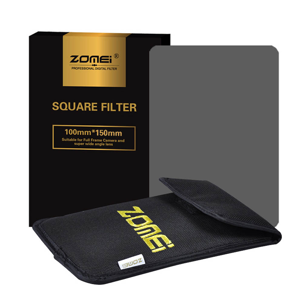 """Zomei 150*100mm ND Square Filter ND2 ND4 ND8 ND16 Neutral Density Grey Filter For Cokin Z-Pro Lee Hitech 4x4"""" 4x6"""" 100mm Holder"""