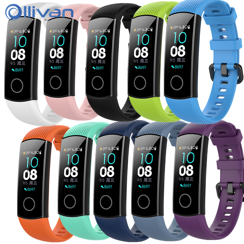 Strap For Huawei Honor Band 4 5 Smart Wristband Strap For Honor Band4 Band5 Bracelet Silicon Wrist Strap TPU Band 5 Accessories