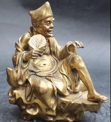 007943 9 Cinese Bronzo Mitologia Rohan Arhat Monaco Fo Jigong Buddha Scultura Statua007943 9 Cinese Bronzo Mitologia Rohan Arhat Monaco Fo Jigong Buddha Scultura Statua