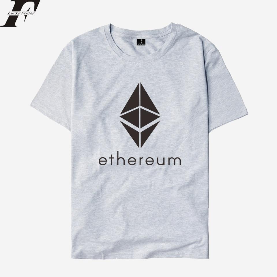 Blockchain Ethereum T shirt Men/Women Cotton T-shirts Women Summer Short Sleeve Ethereum Bitcoin T-shirt ETH Logo Top Tees