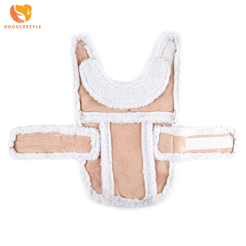 Imitation Deerskin Casual Dog Coat Warm Fall and Winter Cotton Waterproof Pet Jacket Puppy Cat Clothes Costumes For Small Dogs