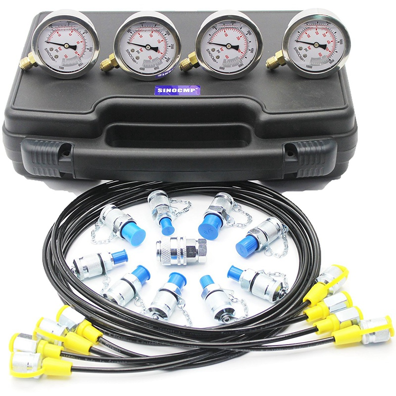 Excavator Hydraulic Pressure Gauge Test Kit Diagnostic Tool 2 year warranty