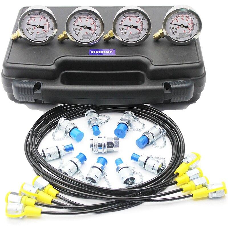 Pelle Hydraulique Manomètre Test Kit, Outil de diagnostic, 2 an de garantie