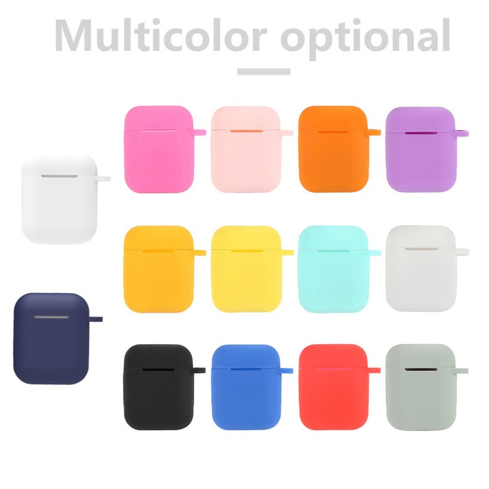 Soft Silicone Earphone Case For Apple Wireless Bluetooth Protective Cover Box for Ear Pods