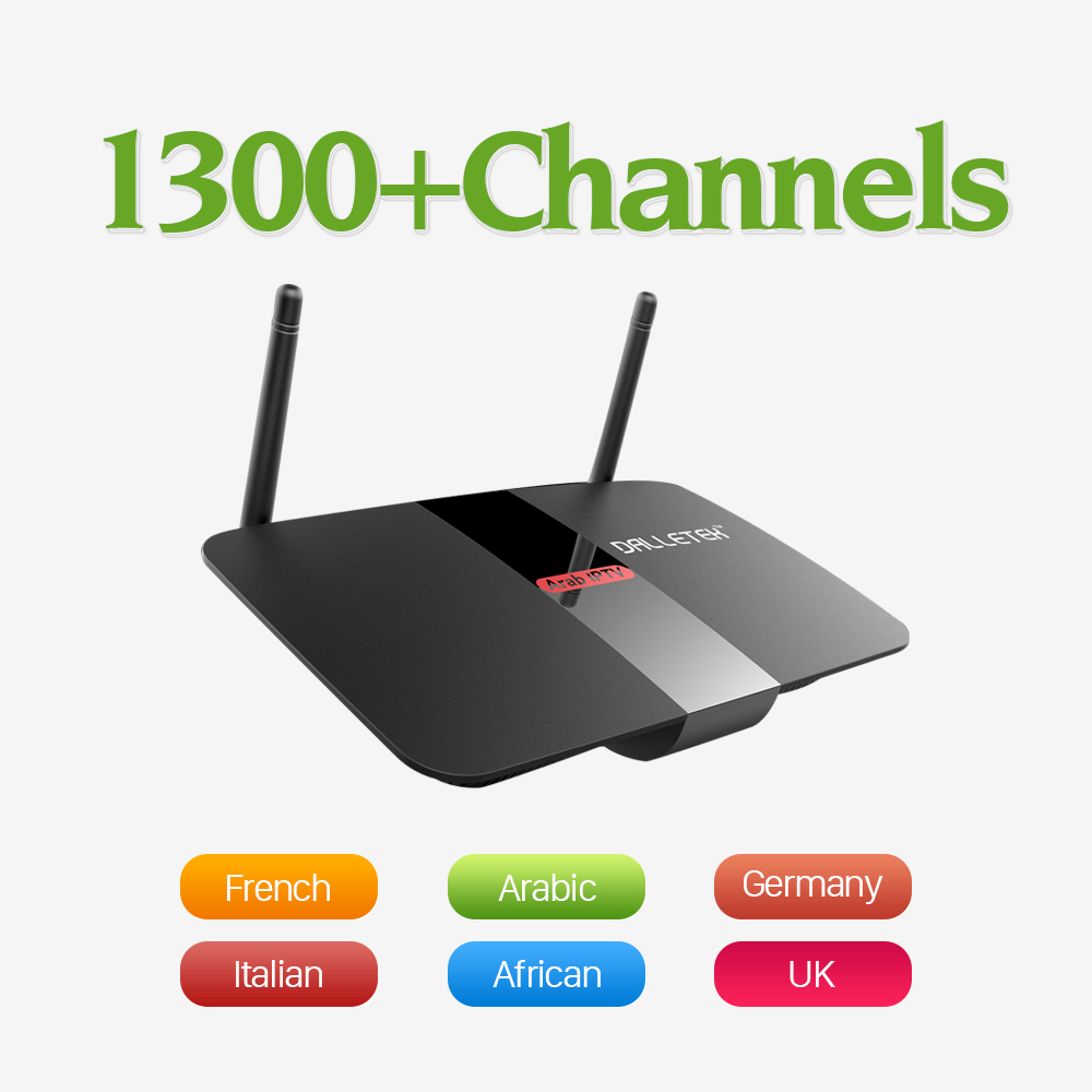 1Year 1100 Free Iptv Channels Arabic Europe Italy French Turkey with Android Smart TV Box H.265 Decoding Streaming Media Player iptv streaming box leadcool android wifi 1g 8g include 1700 italy portugal french receiver europe arabic channels package