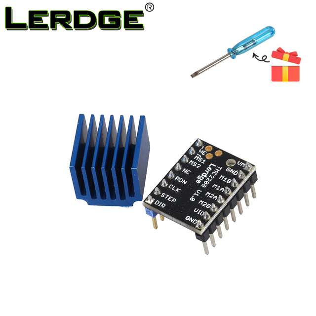 US $9 29 5% OFF|3D Printer Part Upgrade TMC2208 Stepper Motor Driver  Stepstick Super Silent With Heat Sinks compatible with TMC2100 step  motor-in 3D