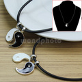2Pcs Men Women Split Yin Yang Pendant Necklace Friends Lovers Jewelry Gift