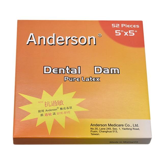 1 scatola di Alta Qualità Puro Lattice di Gomma Diga di Piccola Dimensione 52pcs o di Grandi Dimensioni Dental Dam 36pcs Ogni box Dental Dam anti allergia