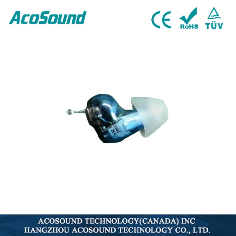 AcoSound Invisible Hearing Aid Sound Voice Amplifiers 610IF CIC Hearing Aids For The Ear Deaf Aids With 9 Earplugs карта памяти oem 10pcs lot cf 4 8 16 32