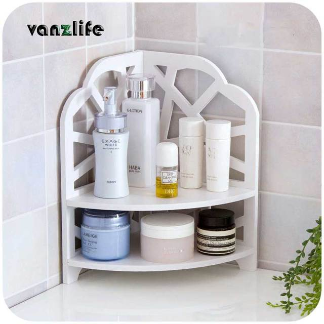 Vanzlife Bathroom Bedroom Countertop Corner Shelf Floor   Standing Shelf  Kitchen Bathroom Shelf Multilayer Storage Rack