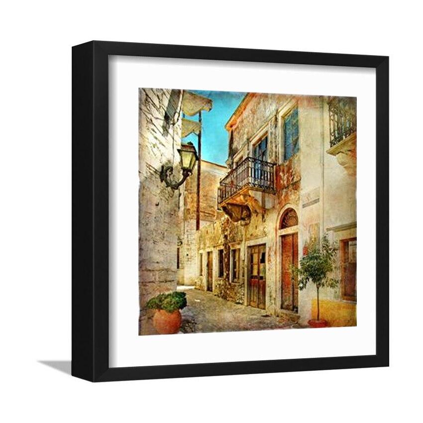 Home Decor Obrazy na plátně City Street Wall Umělecké obrazy Obrazy na plátně Moderní nástěnné obrázky do obývacího pokoje bez rámečku F058