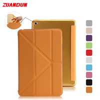 ZUANDUN Smart Full Cover Case For Apple IPad Air 2 Leather Multi Fold Stand Cover For