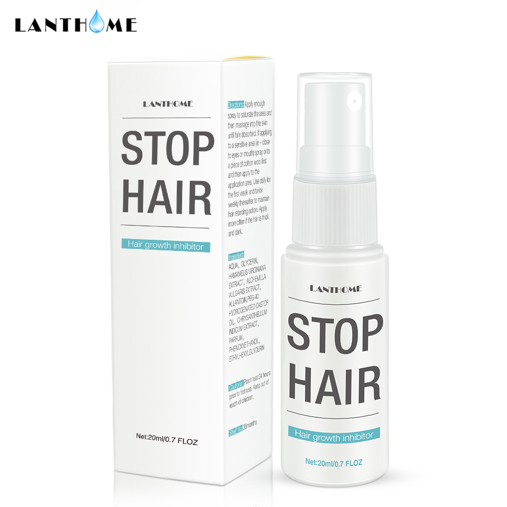 Permanent Stop Hair Growth Inhibitor Pubic Hair Repair Smooth Body Hair Removal Treatment Spray Facial Hair Remover for Women 5