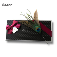 Mens Feather Brooches Lapel Pins High Quality Collar Bar Pin for Men Wedding Cocktail Party Business Suit Decoration Accessories