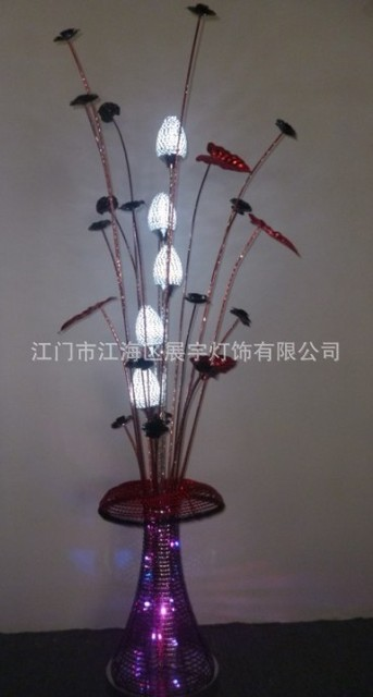 Aluminium wire led table lamp environmental protection table lamps aluminium wire led table lamp environmental protection table lamps creative flower basket lamp greentooth Image collections