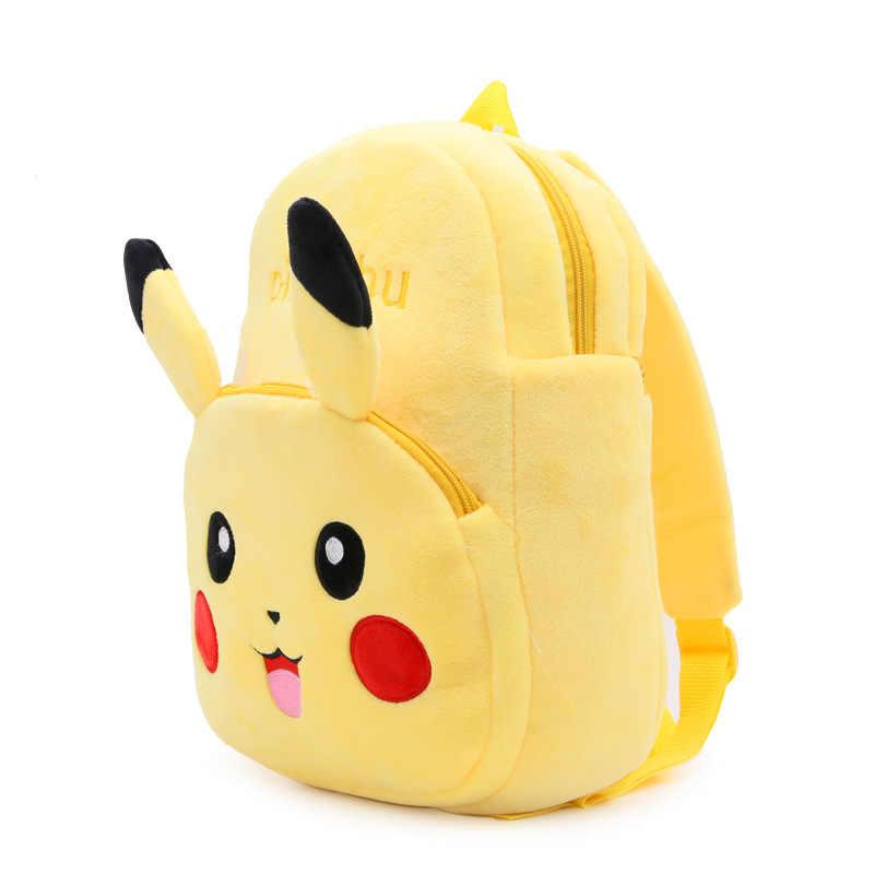 Высококачественная детская школьная сумка, Детский плюшевый рюкзак Пикачу, школьные сумки для мальчиков и девочек, подарок для детского сада, детские игрушки Mochila