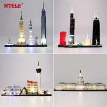 MTELE светильник комплект для Архитектура skyline London/столицу Соединённых Штатов совместимые с лего 21026/21027/21028/21030/21032/21042