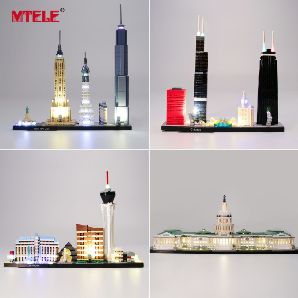 MTELE Light Kit ONLY For Architecture skyline London /United States Capitol Compatible With 21026/21027/21028/21030/21032/21042|Blocks| |  - title=