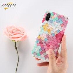 KISSCASE 3D Cas D'échelle de Poissons Pour l'iphone 6 7 5S X Cas Coque Pour Samsung S8 S7 Note 8 Cas mignon Rose Pour Huawei P10 P9 Plus La Couverture