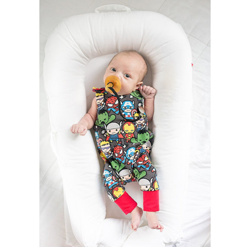 Baby Rompers Cottons Newborn Boys Girls Clothes Super Heroes Print Summer Clothing 2017 Toddler Kids Sleeveless Jumpsuit baby rompers one piece newborn toddler outfits baby boys clothes little girl jumpsuit kids costume baby clothing roupas infantil