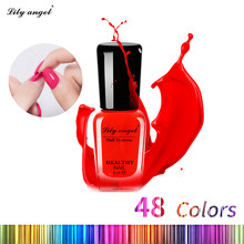 Lily angel 6ml Colorful Waterborne Nail polish Gel Paint Peel off Water Based Nails Art Glue Quick Drying Beauty Tools(China)