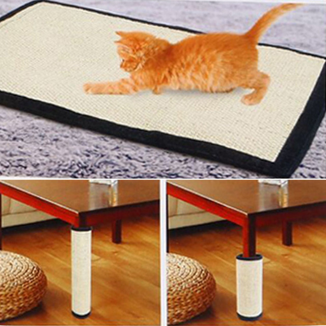 Cat Scratching Post Natural Sisal Mat Toy Protecting Furniture Foot For Cats Catnip Tower Climbing Tree