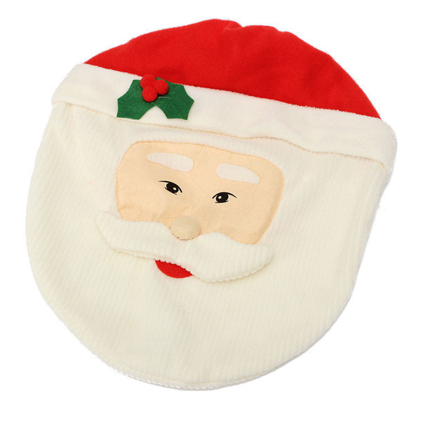 3 Pcs Set New Santa Toilet Seat Cover Christmas Home Decoration Rug Bathroom Ornaments In Party DIY Decorations From Garden On