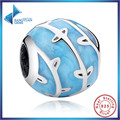 New Hotsale 925 Sterling Silver Charms BLUE VINES CHARM for Women Bracelet Necklace Accessories Free Shipping