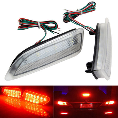Clear Bumper Reflector Rear Brake LED Light For Lexus CT200h For Toyota Corolla 2011+ new for toyota altis corolla 2014 led rear bumper light brake light reflector novel design top quality fast shipping