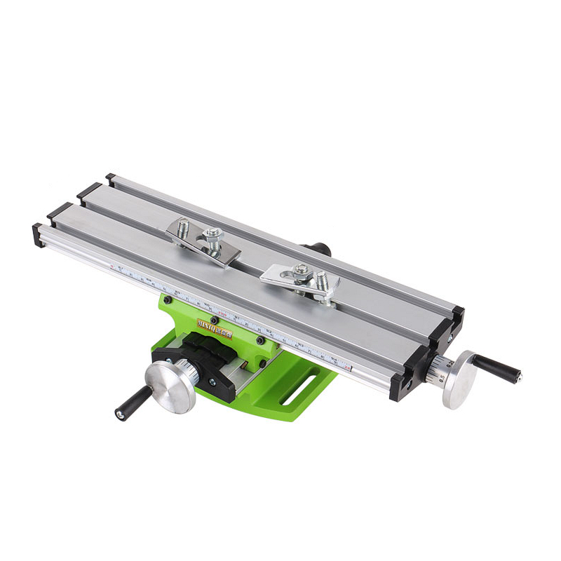 Multi-purpose Drill Milling Machine Vise Mini Compound Bench Bracket Aluminium Alloy Cross-slide Table Carriage Adjustable