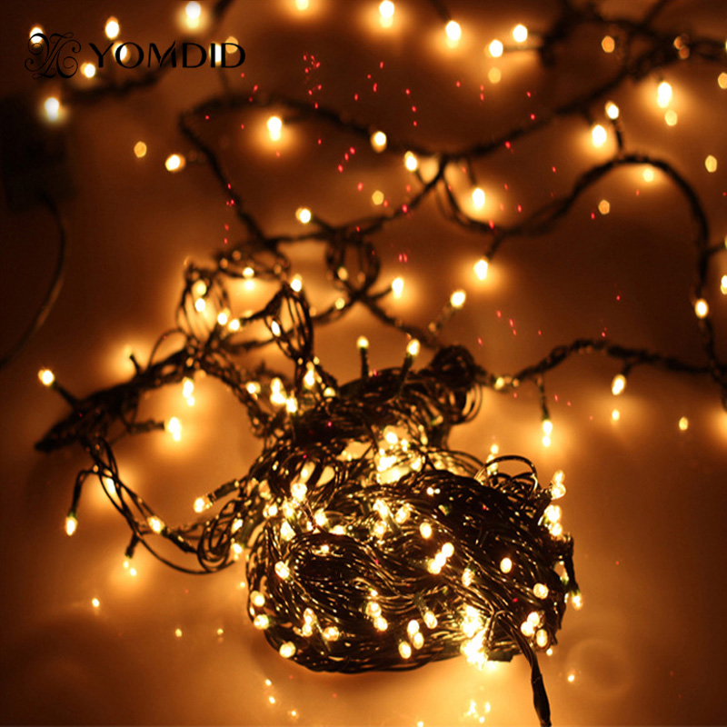 christmas lights outdoor garden christmas tree decorative lights party twinkle bulbs 4 meters. Black Bedroom Furniture Sets. Home Design Ideas