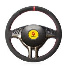 Braid on the Steering Wheel Cover for BMW E39 E46 325i E53 funda volante leather steering wheel case suede leather steering wheel cover for bmw e70 x5 2008 2013 e71 x6 2008 2014 braid on the steering wheel capa para volante