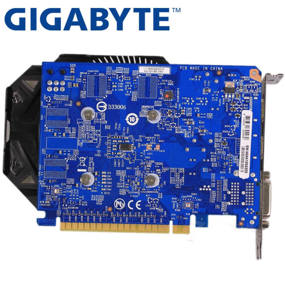 Tarjeta gráfica GIGABYTE Original GTX 750 2GB 128Bit GDDR5 tarjetas de vídeo para nVIDIA Geforce GTX750 Hdmi Dvi usado VGA tarjetas en venta