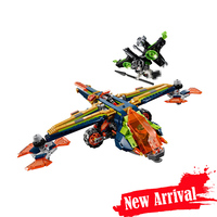 LEPIN 14044 Aaron's X bow Nexo Nexus Knights Building Blocks Bricks Educational Toys DIY For Children Compatible with 72005