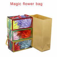 Neue Seltsame gestaltete mysterious Mystische Feuer Zaubertricks Kreative Magie Papier Tasche Ändern Blume Tasche Lustige Spielzeug