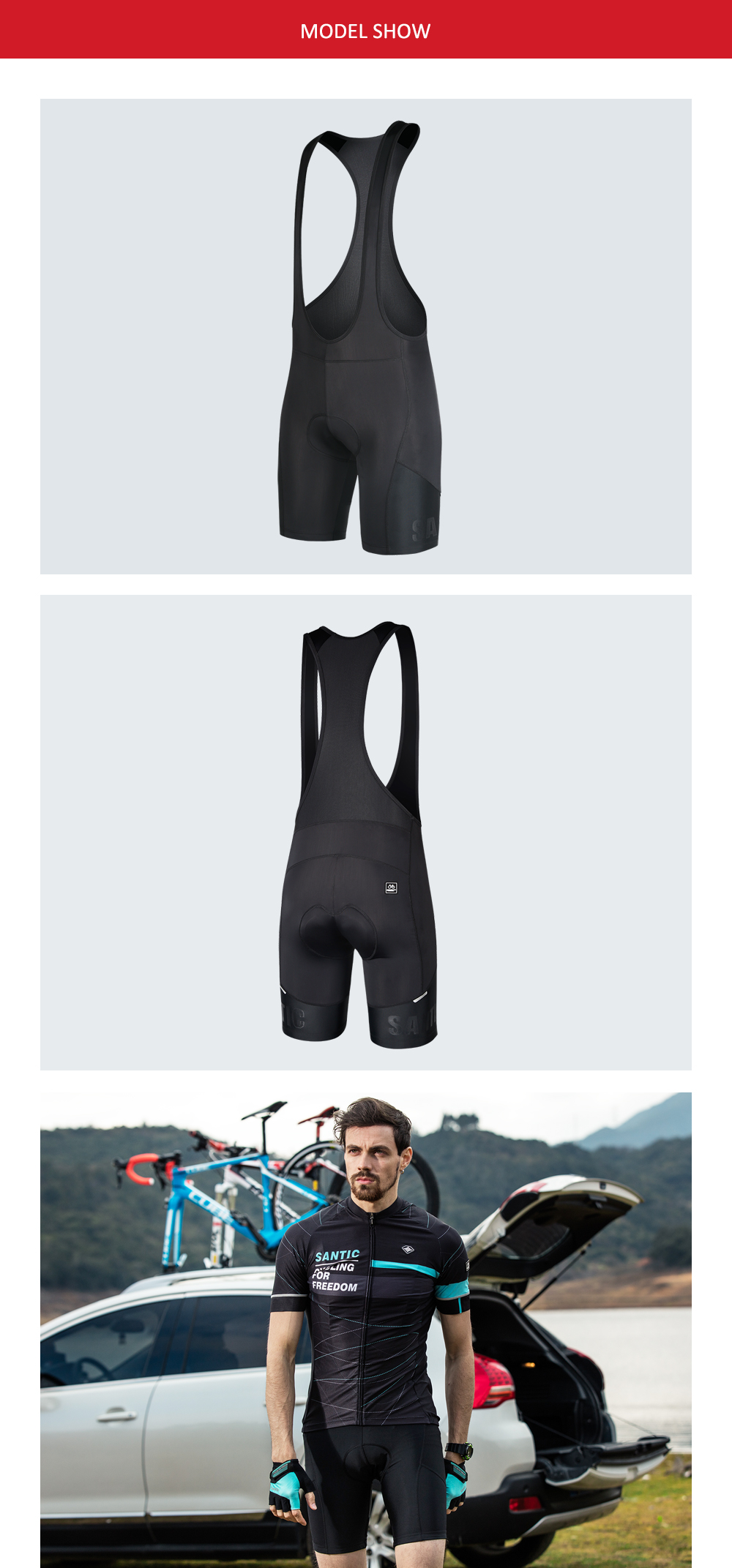 5f54c56f0 Are you worried about a riding short with a vest is uncomfortable  The padded  cycling shorts in our website will dispel your concerns. All our bike  clothing ...