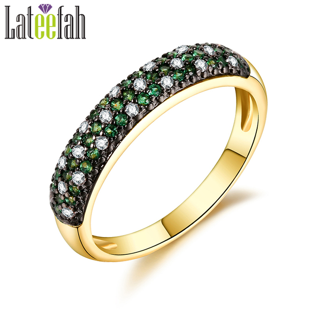 Lateefah Vintage Two Tone Color Rings for Women Green Blue Red Stone